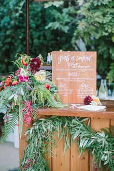 Bohemian outdoor wedding bar: http://www.stylemepretty.com/2017/04/25/bohemian-outdoor-wedding-in-monterey/ Photography: Yasmin Sarai - http://yasminsarai.com/