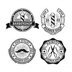 Set of vintage barber shop badge Premium Vector Retro Background, Background Patterns, Textured Background, Free Vector Illustration, City Illustration, Label Design, Logo Design, Memphis Pattern, How To Age Paper