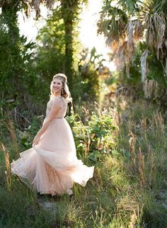 Wedding Anniversary Photography by Emily Katharine Photography @emrobz3 with a dreamy blush Reem Acra gown.