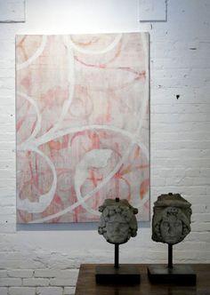 "Melanie Millar, Line of Beauty No. 5, oil on canvas, 60""x44"""
