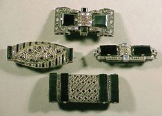 art_deco_style: Art Deco Jewelry and Accessories from Doyle auction in may 2001 (Part 1/3)