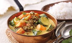 Kochideen & Backrezepte für jeden Geschmack » Thea Tapas, Thai Red Curry, Ethnic Recipes, Food, Healthy Vegetarian Recipes, Gluten Free Recipes, Lentil Curry, Chilli Recipes, Simple
