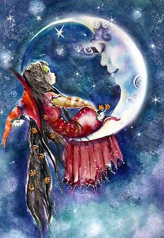 "Moon:  #Moon ~ ""A Very Special Visit,"" by Robin Pushe'e."