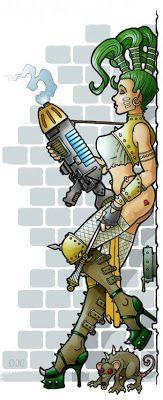 Escher ganger Warhammer 40k Figures, Warhammer Art, Warhammer 40k Miniatures, Warhammer Fantasy, Warhammer 40000, Warhammer Games, Female Cartoon, Female Art, Necromunda Gangs
