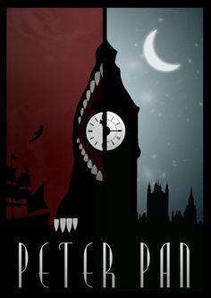 Peter Pan <3!  (Clássicos da Disney em cartazes minimalistas - Designerd)