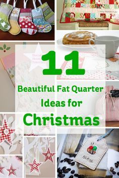 Fat quarters are great for sewing using a variety of fabrics. Here's some fat quarter ideas for Christmas to get you feeling seasonal!