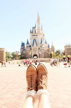 brown boots at disney
