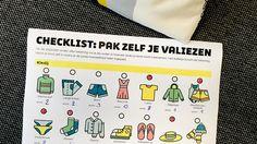checklist valiezen inpakken