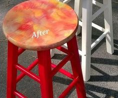 from boring bar stool to beautiful with unicorn spit, how to, outdoor furniture, painted furniture