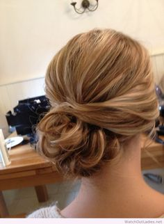 Wedding hair side bun