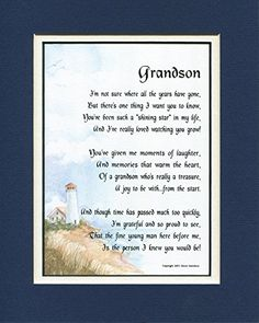 for my grandson 8x10 poem double matted in navywhite poems for graduation