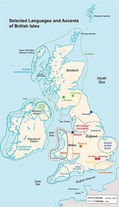 selected languages and accents of the british isles.    Les différents accents britanniques selon le lieu. Les biloutes anglais existent !