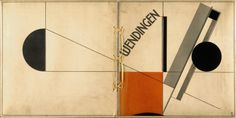 El Lissitzky, cover to the Dutch avant-garde magazine Wendingen (1922).