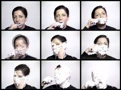 """Lenora de Barros, """"Homenagem a George Segal"""", 1984/2006. Videoperformance, 3'50''. Edição: 1/5."""