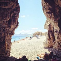 Posted on Cityloque AFANTOU BEACH At the end: a cave sent from #paradise #visitgreece #Rhodes