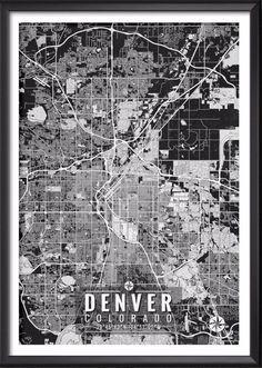 Denver Colorado Map with Coordinates   Ideate Create Studio - Ideate Create Studio