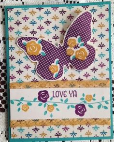 Love ya Butterfly by CAR372 - Cards and Paper Crafts at Splitcoaststampers