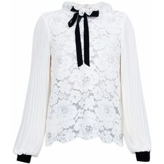 Philosophy Di Lorenzo Serafini Cream Lace Blouse (2,565 ILS) ❤ liked on Polyvore featuring tops, blouses, lace collar blouse, cream lace top, philosophy di lorenzo serafini, lacy blouses and collar top