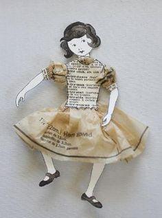 little paper girl by devrika