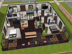A Layout Found Online To Give Ideas For Building The Sims Houses