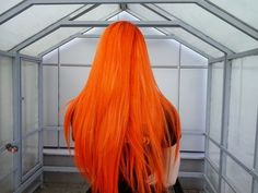 Bright Orange Dyed Hair .........................