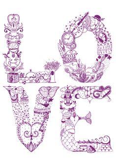 Love by Karina Eibatova #typography