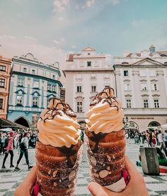 Tag someone you would share these with they're called trdelníks — make sure to get one if you're ever in Prague! —- Hope you're all…