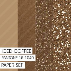 Glitter&Plain PAPER Set Iced Coffee PANTONE 4 by Fashiontelligent