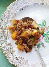Rôti de dinde farci aux pommes et à la courge, sauce au marsala Recettes | Ricardo