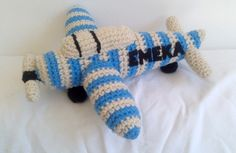 Crochet airplane with personalised name