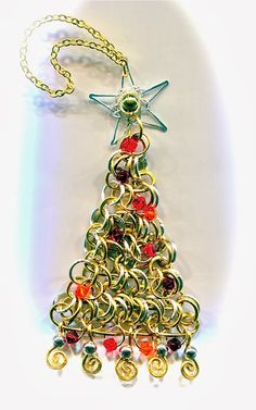 Wire Work Christmas Tree Jewelry Tutorials - The Beading Gem's Journal Lots of other cute ideas as well
