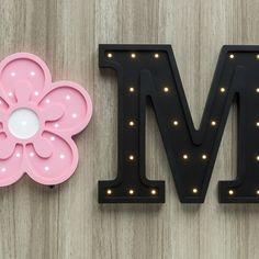 Luminoso flor de MDF no Elo7 | Decordeli (B55499) Best Night Light, Thing 1, Symbols, Lights, Child Room, Flowers, Lighting, Rope Lighting, Glyphs