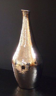 Vase prestige Cuivre martelé finition chromé