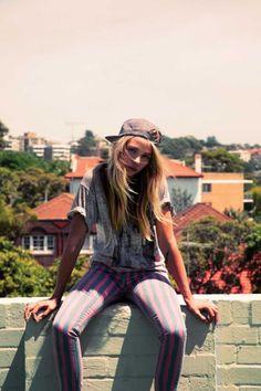 Striped skate style