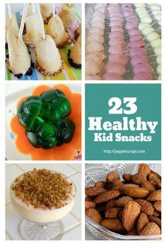 23 Healthy Kid Snacks - some of these look good to me too.  Guess I'm just a big kid!