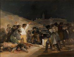 """""""Tres de Maio de 1808"""". """"Os Fuzilamentos de Príncipe Pio"""". (1814). (by Francisco de Goya)."""