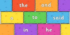 This resource features some phase 4 tricky words on multi-coloured bricks, great for your literacy display or as a visual aid! Kindergarten Reading, Kindergarten Worksheets, English Bulletin Boards, Literacy Display, Word Poster, Phase 4, High Frequency Words, Months In A Year, Year 2