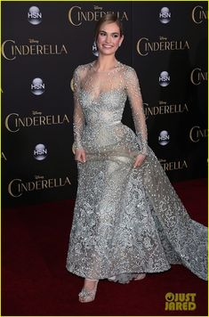 #Lily James #Cinderella premiere El Capitan Theatre, #PopcornTV #CinderellaEvent