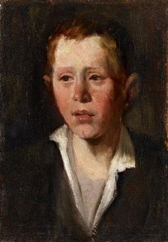 Wilhelm Leibl, PORTRAIT OF A BOY