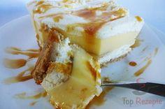 Cremeschnitten ohne Backen. Mit Bananen und einem tollen Geschmack. Eins von den beliebtesten Desserts ohne Backen.