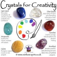 Crystal Set for Creativity - Stone Crystal Guide, Crystal Magic, Crystal Shop, Crystals And Gemstones, Stones And Crystals, Gem Stones, Black Crystals, Lapis Lazuli, Crystal Healing Stones