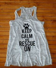Keep Calm & Rescue On - Women's Glitter Tank on Etsy, $30.00