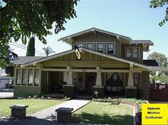 Pretty fantastic! Front View of Home 1917 Craftsman Bungalow Uptown Whittier Whittier, California
