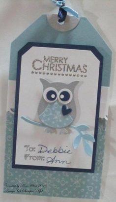 Christmas Owl Gift Tag 2
