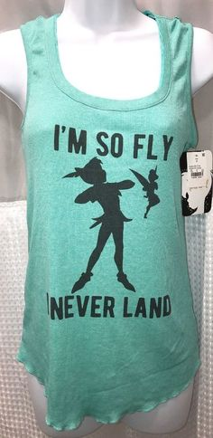 4534b0286b6a92 Disney Peter Pan Neverland Tinkerbell Tank Top Cami New With Tags Size  Medium