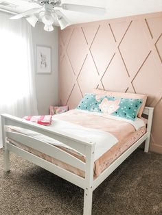 Our little girls room! Big Girl Bedrooms, Girl Bedroom Walls, Little Girl Rooms, Bedroom Decor, Bedroom Ideas, Girls Room Paint, Girls Room Design, Girl Bedroom Designs, Girls Room Wall Decor