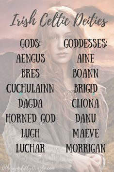 Irish Gods and Goddesses: List and Descriptions - Otherworldly Oracle - NorsePins World Mythology, Celtic Mythology, Celtic Goddess Names, Irish Mythology Creatures, Celtic Names, Writing A Book, Writing Tips, Journal Guide, Celtic Paganism