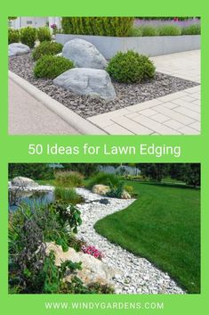 Lawn edges add easy definition to your yard, they provide the finishing touches to gardens, lawns, and pathways, with minimal effort and cost from you – kind of like the bow tie on top of the tuxedo! Here are some ideas! Lawn Edging, Garden Edging, Garden Borders, Lawn And Garden, Garden Tools, Garden Ideas, Lawn Care Tips, Farmhouse Garden, Landscape Edging