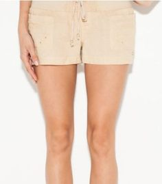 G by GUESS Calla Lily Linen Shorts, BONITA BEIGE (MEDIUM) G by GUESS. $29.00
