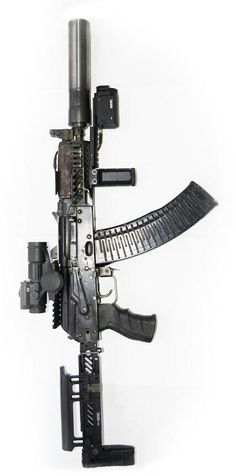 rifle with extras - This is a very nice looking guns here. Airsoft Guns, Weapons Guns, Guns And Ammo, Assault Weapon, Assault Rifle, Tactical Rifles, Firearms, Custom Guns, Military Weapons